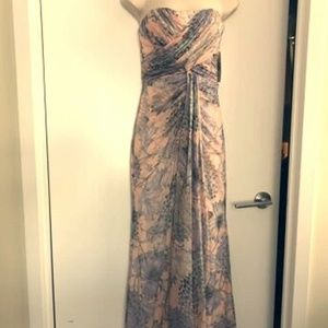 NWT Badgley Mischka Strapless Flora Dress